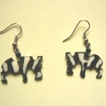 Bone Bead Zebra Earrings EA3