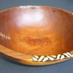 Large Olive Wood Circular Salad Bowl – Stitch Detail WBS12