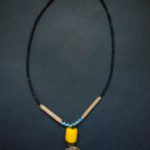 Brass Spiral Yellow Bead Necklace NSP