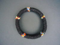 Masai Bead Black Bangle MBG5