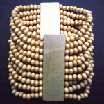 Wood Bead Stretch Bracelet – Light Brown BWB3