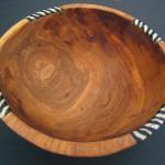 Medium Olive Wood Circular Salad Bowl WB10