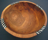 Medium Olive Wood Circular Salad Bowl WB10