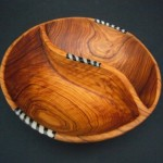 Olive Wood Divided Aperitifs Bowl WBRDIV8