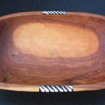 Olive Wood Oval Bowl WBO12