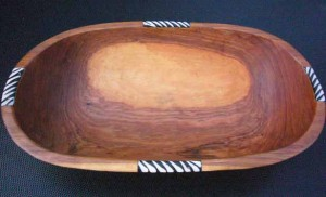bowl woodbone lge oval