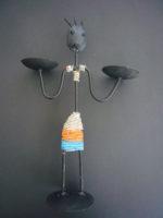 Steel Masai Candleholder CH1