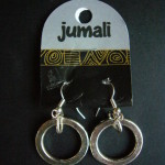 'Jumali' Silver Hoop Earrings SAEA6