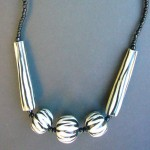Zebra Wood Bead Necklace NZ1