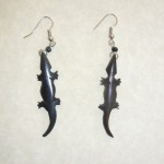 Bone Bead Gecko Earrings EA4