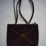Annabel Thom Small Suede Handbag – ATBAG4