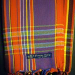 Long Kikoy Scarf – Red & Purple Narrow Stripe KS8