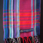Long Kikoy Scarf – Blue/Red/Multi Narrow Stripe KS4