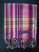 Long Kikoy Scarf – Pinks Multi Stripe KS9