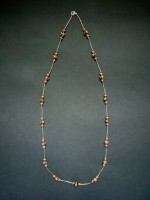 Long Batik & Metal Necklace – MN7