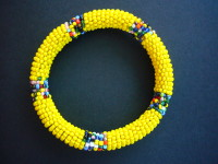 Masai Bead Yellow Bangle – MBG6