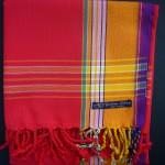 Kikoy – Red with Gold Broad Stripe KK23