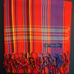 Kikoy – Red & Purple Narrow Stripe KK21