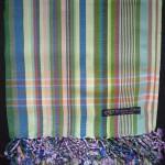 Kikoy – Light Green & Blue Multi Narrow Stripe KK15