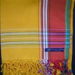 Kikoy – Gold Yellow with Red Broad Stripe KK20