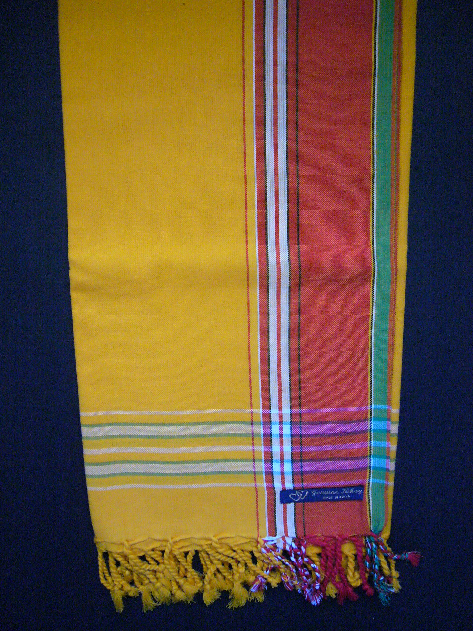 Kikoy Gold Yellow With Red Broad Stripe Kk20 Out Of
