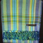 Kikoy – Blue & Green Narrow Stripe KK14