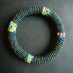 Masai Bead Dark Green Metallic Bangle – MBG9