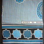 Kanga – Turquoise Blue Traditional Design KG2