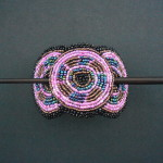Beaded Hairclip – Black & Pink HCLIPB10