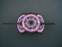 Beaded Hairclip – Black & Pink HCLIPB10