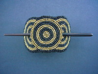 Beaded Hairclip Black & Gold – HCLIPB7