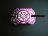 Beaded Hairclip – Pink/White HCLIPB4
