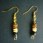 African Natural Bead Earrings ME2
