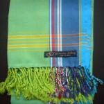 Kids Kikoy – Lime Green/Blue Stripe KKY2