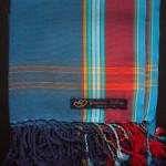 Kids Kikoy – Blue with Red Stripe KKY3