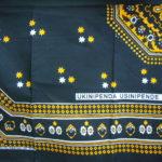 Kanga – Black & Gold Traditional Design KG3