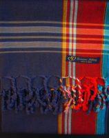 Kikoy – Navy Blue with Broad Red Stripe KK3