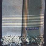 Kikoy – Grey & Green Broad Stripe KK7