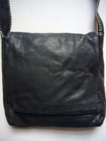 Annabel Thom Large Black Leather Handbag – ATBAG6