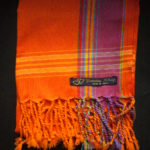Kids Kikoy Wrap or Scarf – Orange/Purple Stripe KKY4