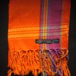 Kids Kikoy Wrap or Scarf – Orange/Purple Stripe KKY4