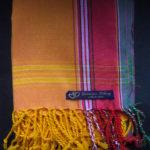 Kids Kikoy Wrap or Scarf – Pale Orange/Red Stripe KKY5