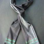 Long Kikoy Scarf (Finest Grade Cotton) – Black/Grey/Green KSF1