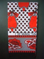 Kanga – Red & Black Traditional Design KG16
