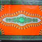Kanga – Orange & Green Masala Design KG13