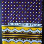 Kanga – Purple & Gold Traditional Design KG11
