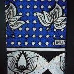 Kanga – Blue Traditional Design – KG1