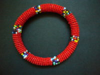 Masai Bead Red Bangle – MB12