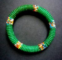 Masai Bead Green Bangle – MB14