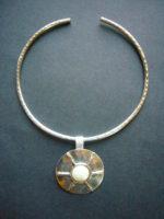 Jumali Silver Pearl Choker Necklace – SANS5